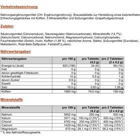PowerBar 5 Electrolytes Zero Calorie Sportdrank Tabletten 10 stuks, Pink Grapefruit with Caffeine